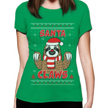 Santa Claws Sloth Ugly Christmas