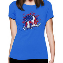 Volleyball American Flag