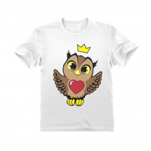 Little Girls Cute Owl with Crown
