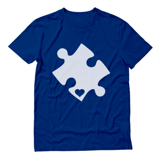 Cut Out Heart Puzzle - Autism Awareness
