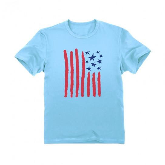Children's Drawing American Flag