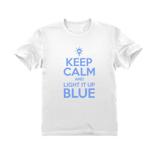 Keep Calm and Light It Up Blue - Children