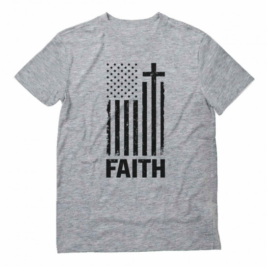 Christian Distressed Black USA Flag
