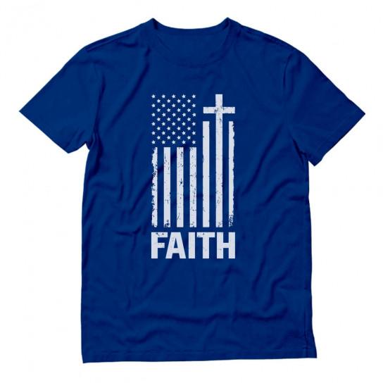 Christian Distressed White USA Flag