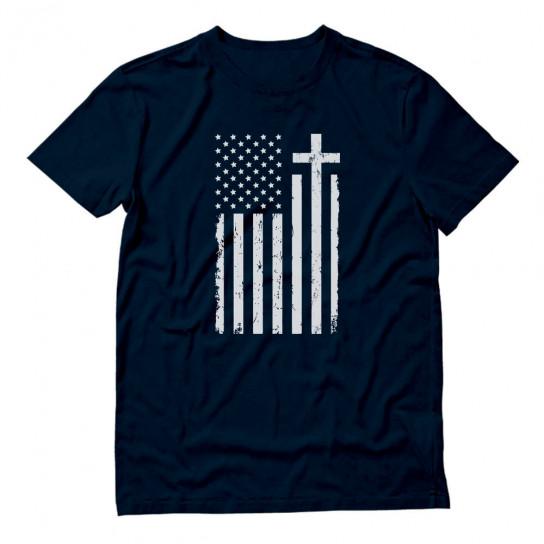 White USA Cross Flag
