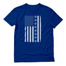 White Jewish U.S Flag