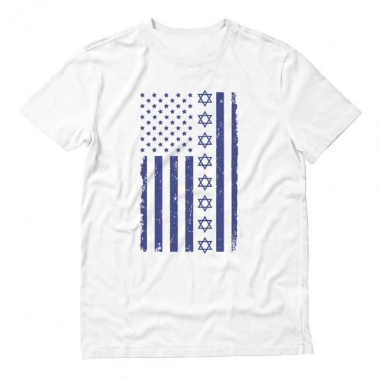 Blue Jewish U.S Flag