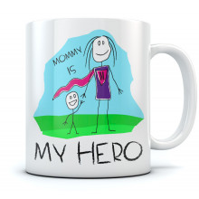 Mothers Day Mug Mommy Is My Hero Gift