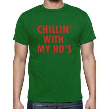 Chillin' With My Ho's Santa Funny Christmas