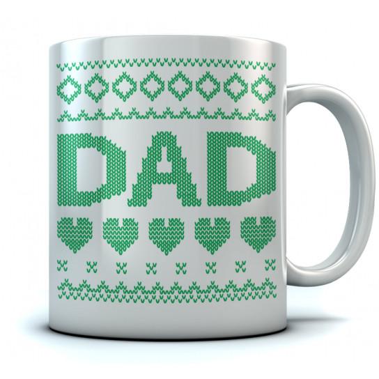 Dad Ugly Christmas Coffee Mug Xmas Gift For Father Stocking Stuffer Tea Mugs Greenturtle