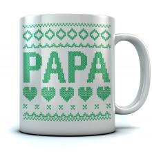 Papa Ugly Christmas Coffee Mug Dad/Grandpa Xmas Gift Stocking Stuffer Tea