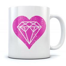 Pink Diamond Love Heart - Gift From Boyfriend Or Girlfriend