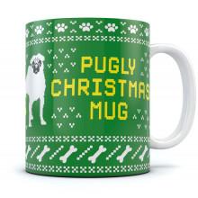 Pugly Christmas - Ugly Christmas Sweater Coffee Mug Funny Xmas Gift Tea Cup