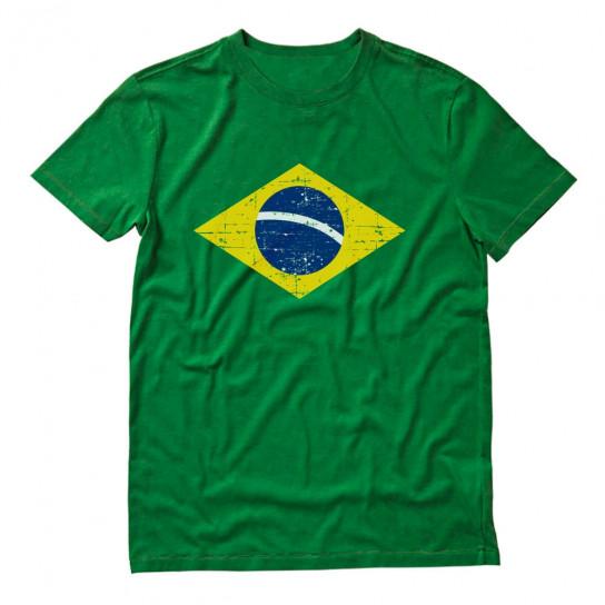 Retro Brazil Flag Vintage Brazilian Pride