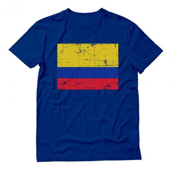 Retro Colombia Flag Vintage Colombian Pride
