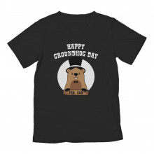 Happy Groundhog Day Cute Holiday