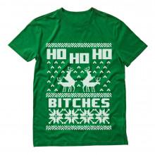 Ho Ho Ho Bitches Funny Ugly Christmas Reindeer