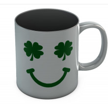St. Patrick's Day Green Clover Smile Coffee