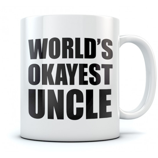 World's Okayest Uncle Coffee Mug