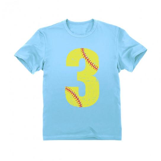 Softball 3rd Birthday Gift Three Year Old
