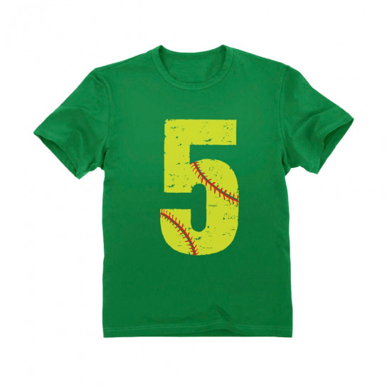 Softball 5th Birthday Gift Five Year Old