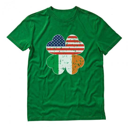 Irish American Shamrock Flag St Patrick's
