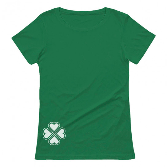 Side Clover Celtic Irish Shamrock