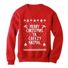 Merry Christmas Ya Cheezy Animal Ugly Xmas Sweater
