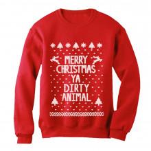 Merry Christmas Ya Dirty Animal Ugly Xmas Sweater