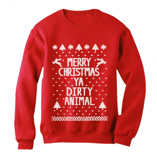 merry christmas ya dirty animal ugly xmas sweater - Dirty Merry Christmas Pictures