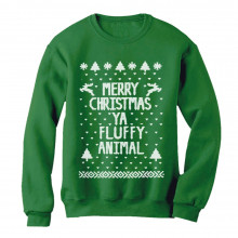 Merry Christmas Ya Fluffy Animal Ugly Xmas Sweater