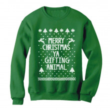 Merry Christmas Ya Gifting Animal Ugly Xmas Sweater
