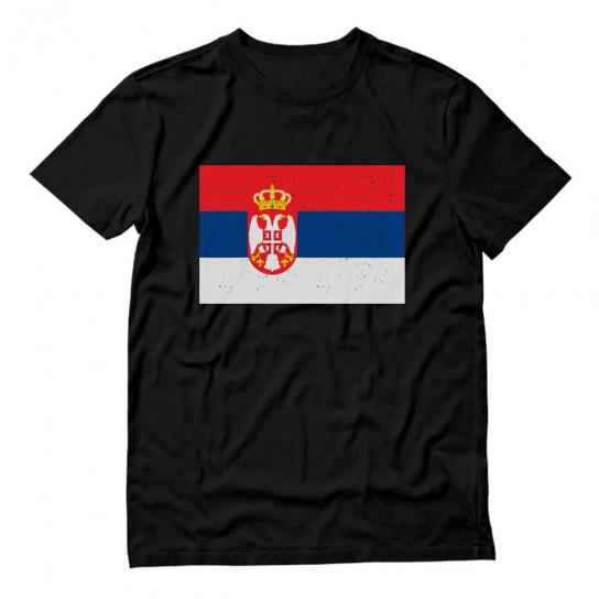 Vintage Serbia Flag