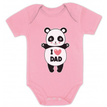 I Love Dad Panda Hug - Babies
