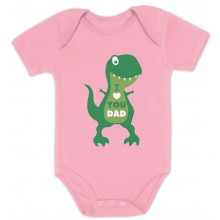 I Love You Dad T-Rex Hug - Babies
