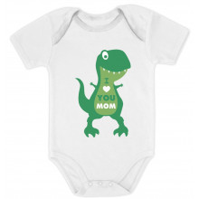 I Love You Mom T-Rex Hug - Babies