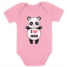 I Love Mom Panda Hug - Babies