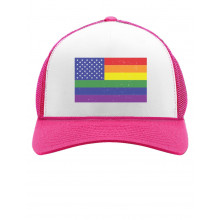 American USA Rainbow Flag Gay & Lesbian