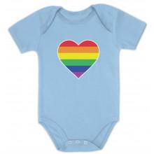 Love Pride Gay & Lesbian Rainbow Heart Flag - Babies