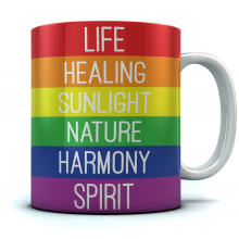 Rainbow Gay & Lesbian Pride Flag Meaning Coffee