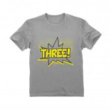 THREE! Third Birthday - 3 Years Old Gift Idea Superhero