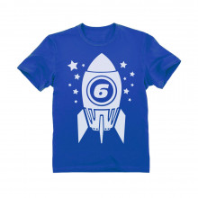6th Birthday Space Rocket