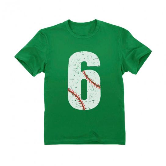 Baseball 6th Birthday Gift Six Year old