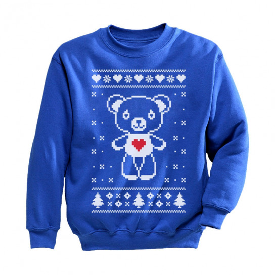 Blue And White Christmas Sweater.Big White Furry Bear Love Cute Ugly Christmas Sweater Christmas Greenturtle