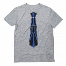 Printed Cross Tie Suit