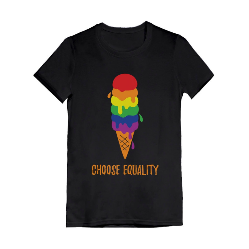 Equality Rainbow Gay /& Lesbian Ice Cream Pride Flag Hoodie Pride Parade Apparel