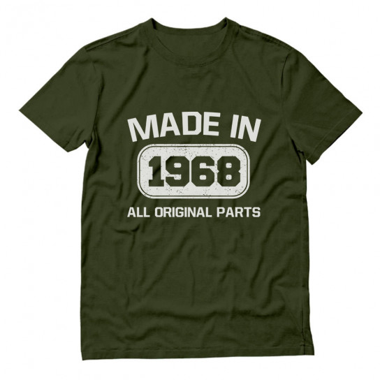 Made In 1968 All Original Parts Birthday