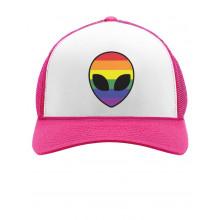 Alien UFO Rainbow Flag Gay & Lesbian