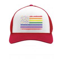 Rainbow American Flag Gay & Lesbian