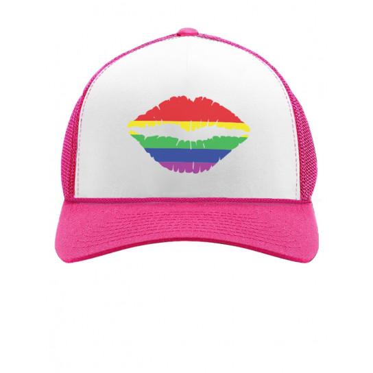 Gay Pride Rainbow Lips